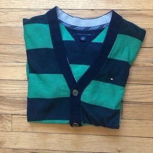 Tommy Hilfiger Blue/Green Cardigan M